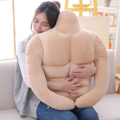 日本大肌肉男朋友抱枕靠枕睡觉枕头床头靠垫搞怪生日礼物送女闺蜜