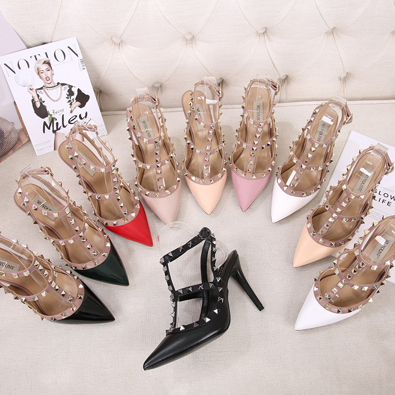 Womens high heeled stiletto sandals