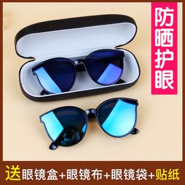 韩版百搭儿童时尚眼镜运动休闲防滑防紫外线复古太阳镜框生日礼物图片
