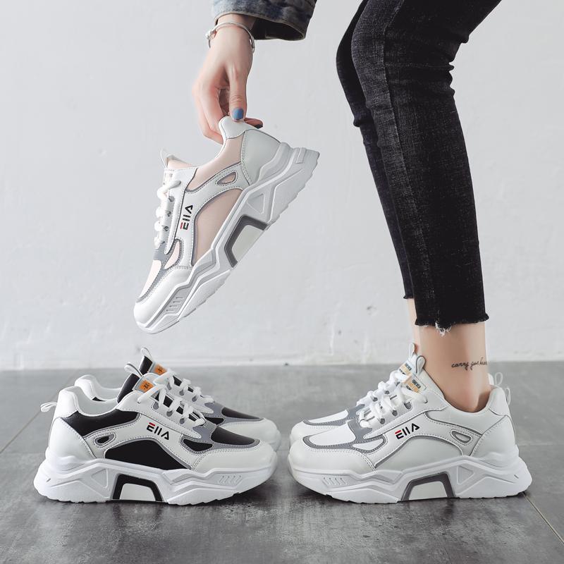 透气小白鞋春季秋季芬芳女鞋新款时尚运动鞋加绒学生波浪网韩版