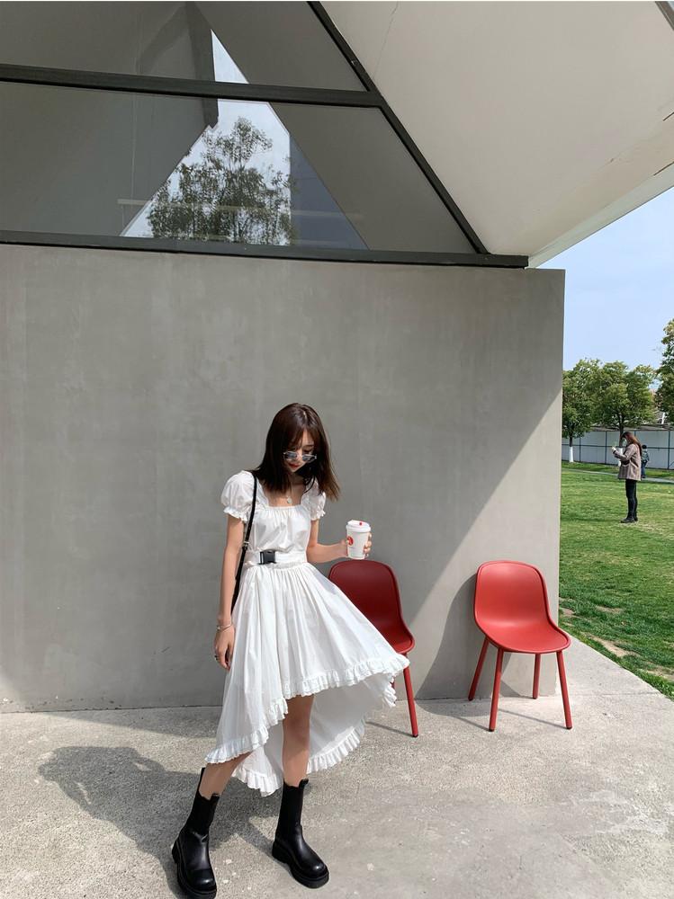 桔梗裙法式显瘦初恋裙复古超仙连衣裙女夏2020年新款裙子遮肚减龄