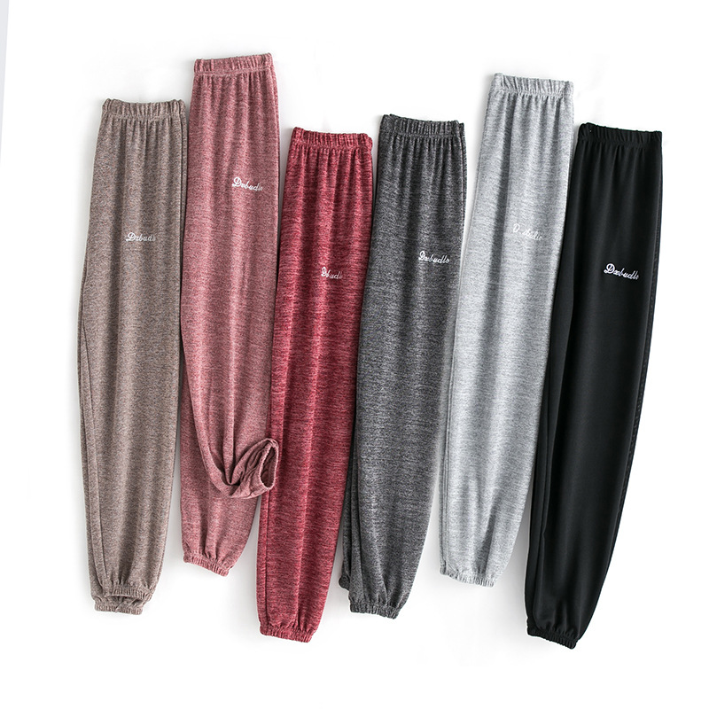 House pants womens summer home is loose and can wear legged lazy home pajamas womens pants air conditioning pants home pants