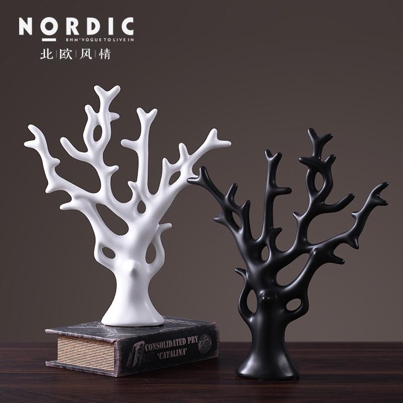 北欧简约现代摆件创意家居饰品摆件客厅酒柜装饰品陶瓷装饰摆设假一赔三