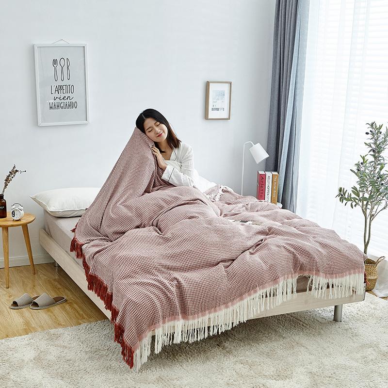 花唄の分割払い無料4階水洗いガーゼ50%綿+50%竹繊維のタオル布団毛布昼寝毛布