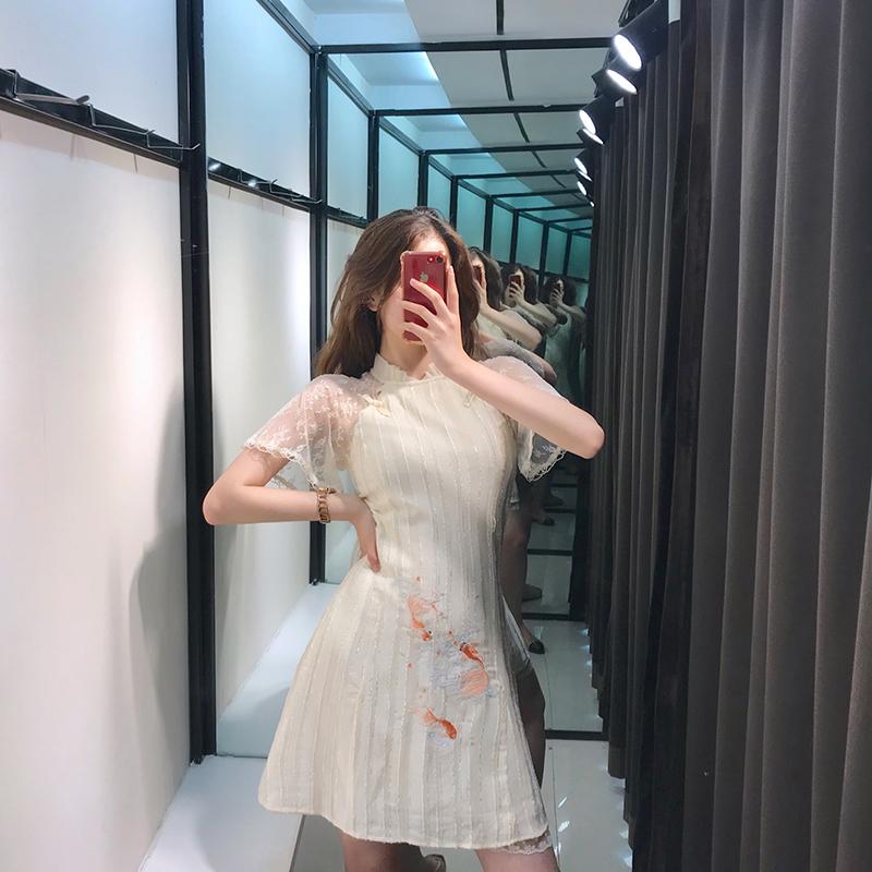 热销15件限时2件3折旗袍改良版连衣裙小个子收腰显瘦性感气质超仙的智熏裙法式桔梗裙