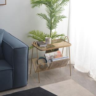 铁梵 北欧沙发边小桌子置物架边几铁艺角几ins风卧室床边桌床头柜
