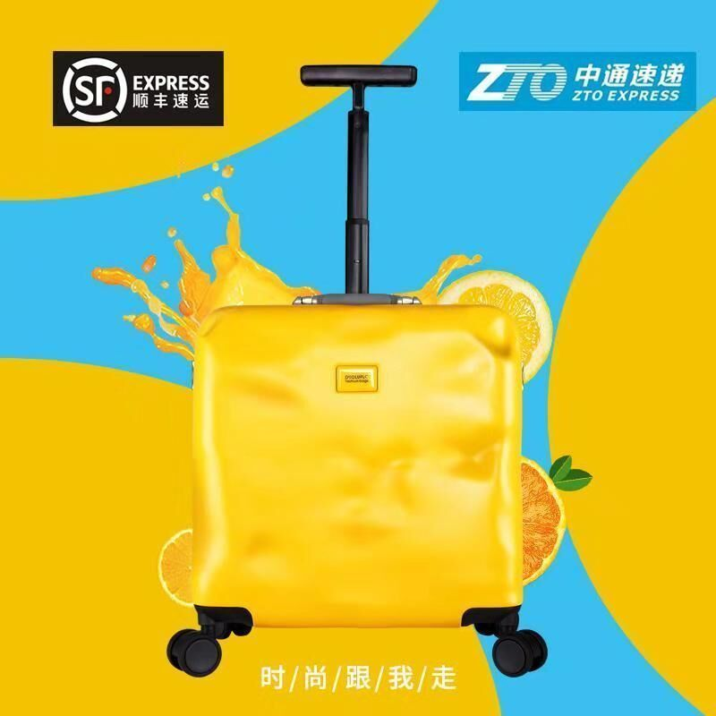 Duolun Paul small suitcase, female code box, male trolley case, 18 inch universal wheel case, ultra light travel case