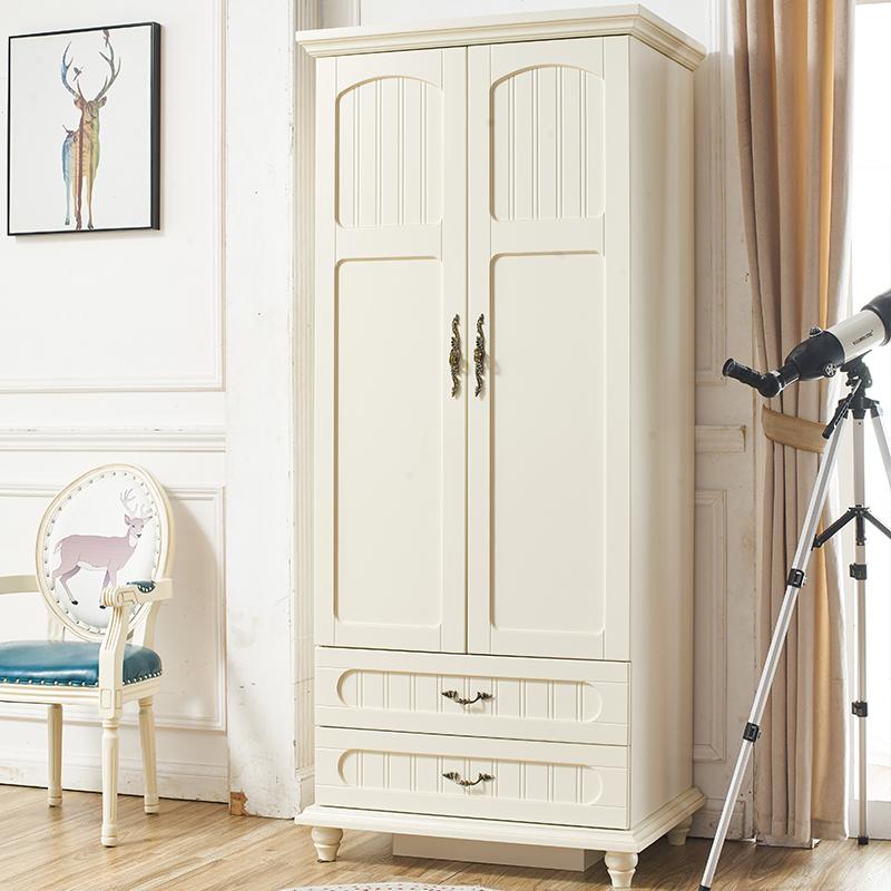 アメリカの田園の2つのクローゼットの小さい部屋型の実木の2つのドアの4つの洋服だんすの子供の簡単な洋服だんすの家具