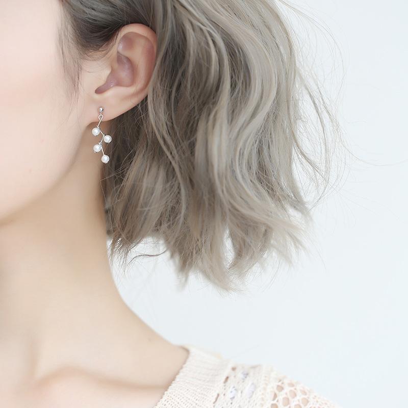 耳环纯银耳钉女气质韩国个性百搭耳坠 珍珠轻奢水晶小清新其他欧