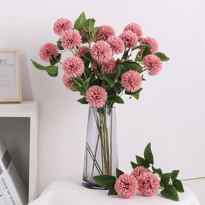 仿真绣球花蒲公英玫瑰花束客厅落地装饰干花假花绢花插花摆件花瓶