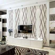 立体无纺布墙纸客厅卧室电视墙背景墙壁纸3D现代简约欧式方形菱格