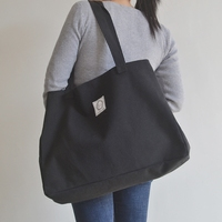 厚实大容量购物袋休闲文艺单肩包女托特大包手提包简约百搭帆布包