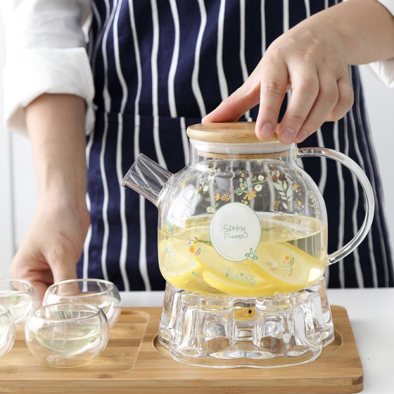 Континентальный свеча отопление стекло ароматный чай чайный сервиз с фильтром сопротивление горячей днем чай чайник домой усилие чайный сервиз