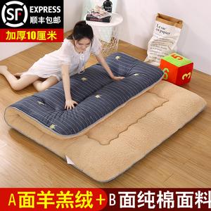 冬天保暖神器加厚羊羔绒地垫日式家用全棉榻榻米床垫羊毛地铺睡垫