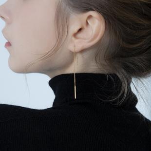 純銀韓國簡約耳鏈女氣質長款流蘇耳線2020年新款耳飾防過敏耳環女