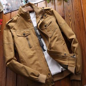 军装夹克男外套秋冬款加绒加厚休闲男士工装夹克修身青年潮流外衣