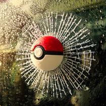 3D立体小精灵球车贴汽车装饰贴纸创意个姓搞笑网球贴砸玻璃窗改装