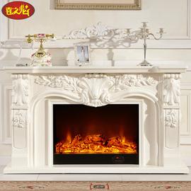 仿真壁炉装饰柜客厅实木电壁炉芯 1.1/1.4米美式欧式壁炉架电视柜图片