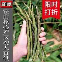 霍山新鲜铁皮石斛鲜条500g四年安徽正宗六安干条中药材特级鲜枫斗