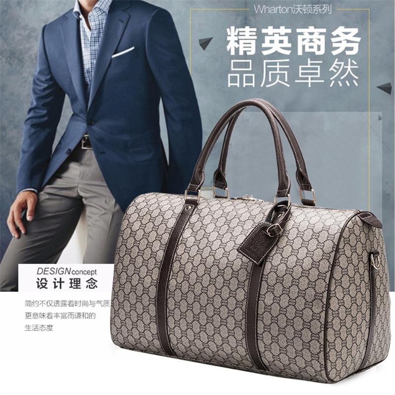 Printed hand-held travel bag mens short distance luggage bag large capacity travel boarding bag business bag business bag