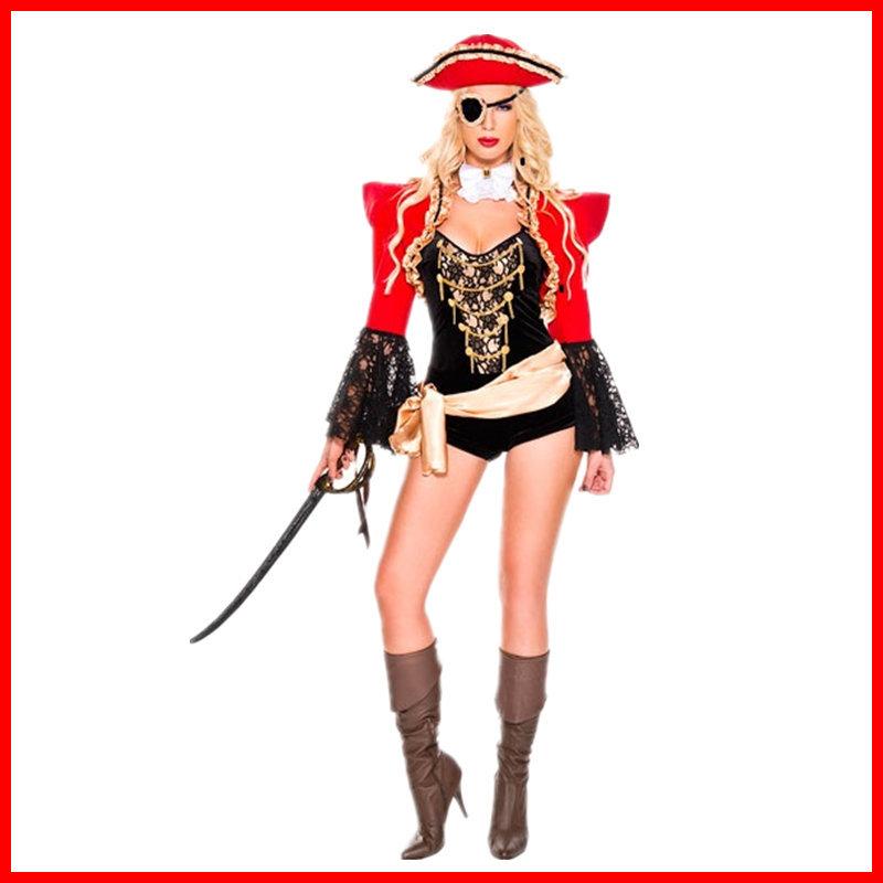 欧美游戏制服万圣节角色扮演派对聚会海盗服装成人服厂家新款zk