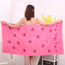 柔软超强吸水速干不掉毛加厚珊瑚绒浴巾毛巾两件套ins韩国订单