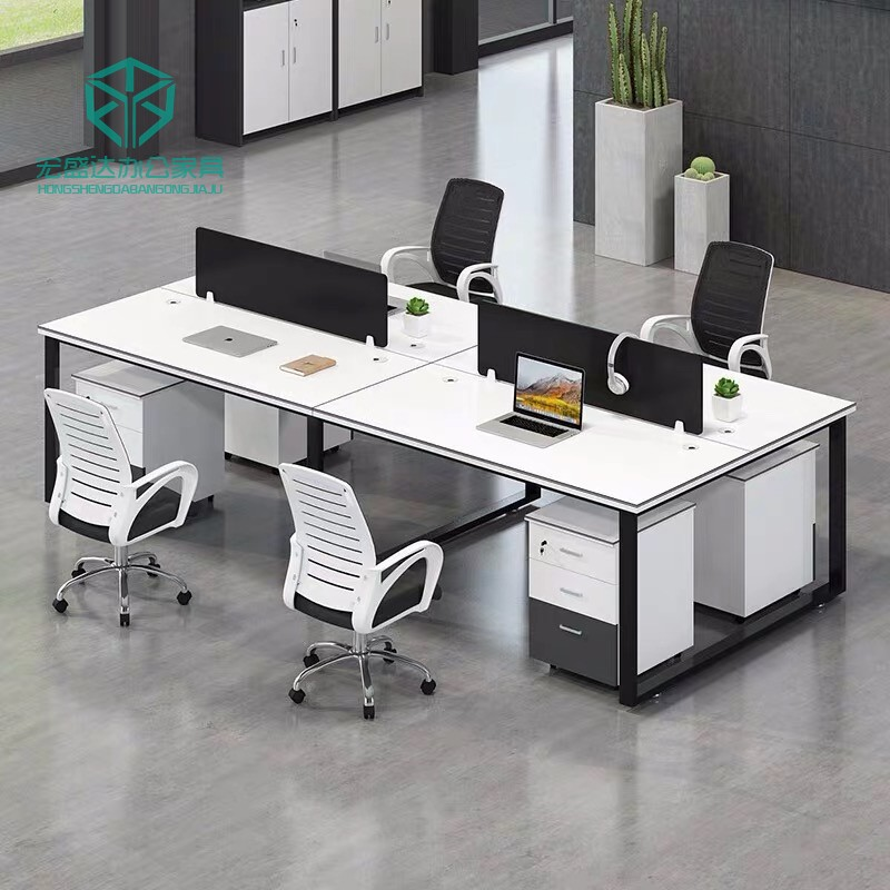 Nanning Office Furniture staff desk 4 people screen work position card seat staff desk combination office 4 people