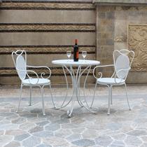铁艺桌椅庭院室外阳台花园户外圆桌休闲咖啡厅洽谈桌椅组合三套件