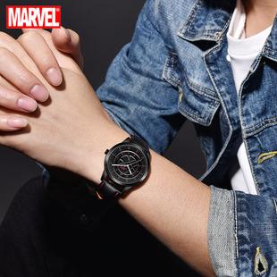 迪士尼手表2019新款男韩版潮流休闲指针青少年奇异博士中学生手表