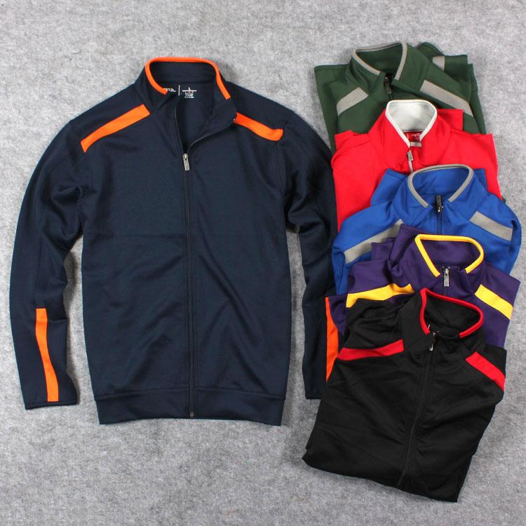 ZIP воздуха слоя ткани является мягкой и гладкой спорта весной и Осенняя мода пальто Куртка мужская одежда