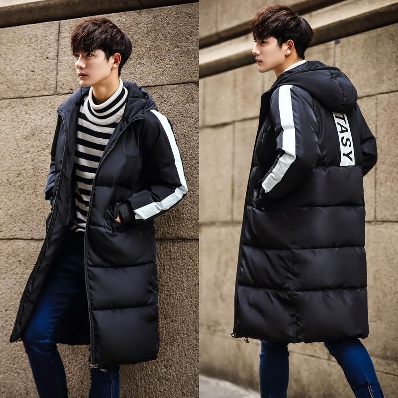 Couple sports cotton coat mens and womens winter cotton coat medium long training knee thickened warm down cotton coat