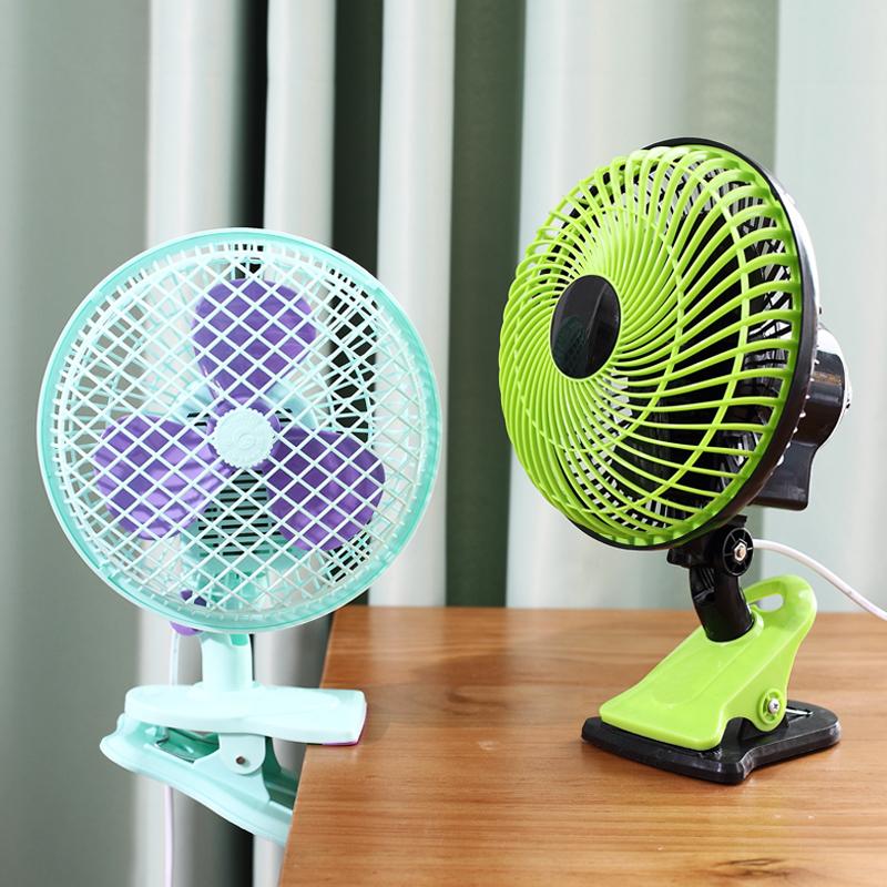 学生宿舍风扇迷你 床上小风扇夹扇台式静音摇头办公室家用电风扇