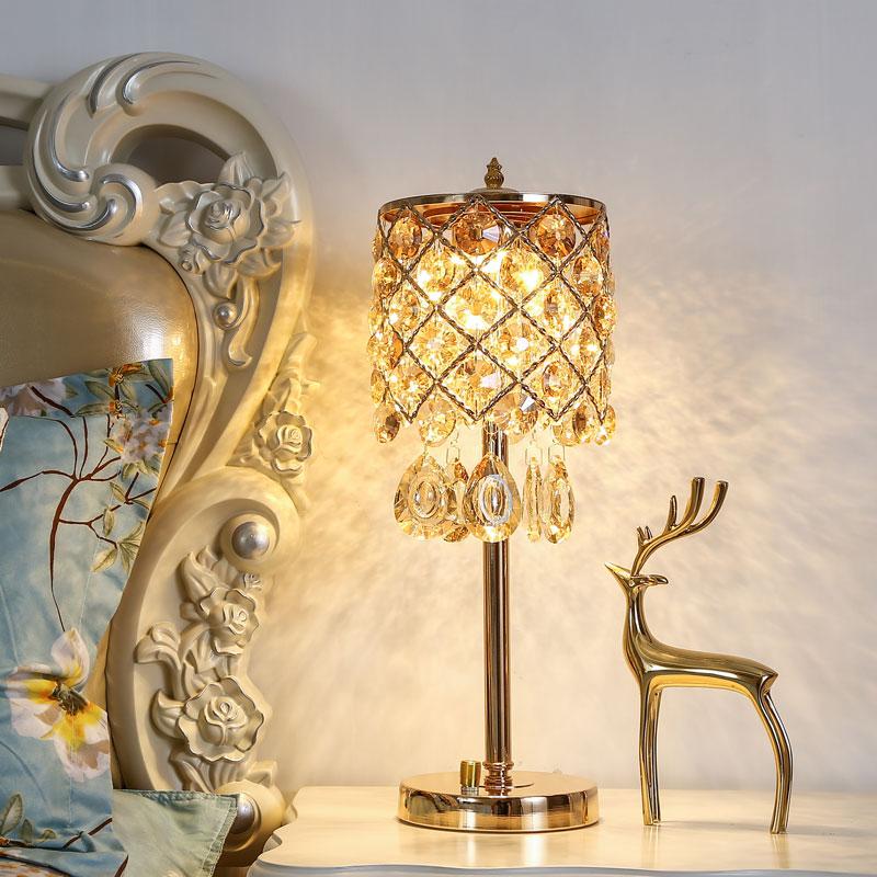 欧式轻奢水晶创意温馨充电ins台灯