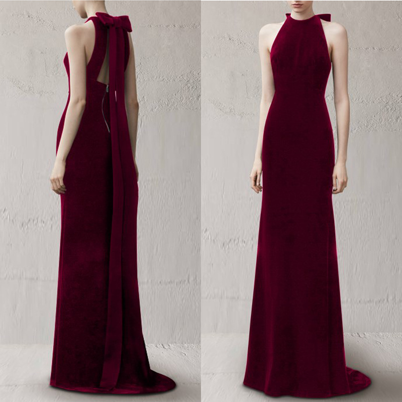 宴会晚礼服女2021新款优雅气质新娘结婚订婚显瘦连衣裙敬酒服长款