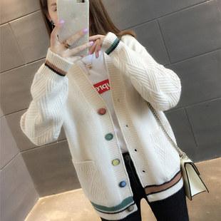百依恋歌新款学生韩版口袋外套毛衣