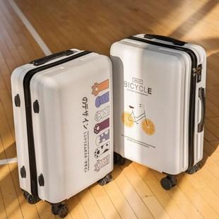 行李箱女24寸男学生网红ins新款 皮箱拉杆箱子 潮小型轻便20寸密码