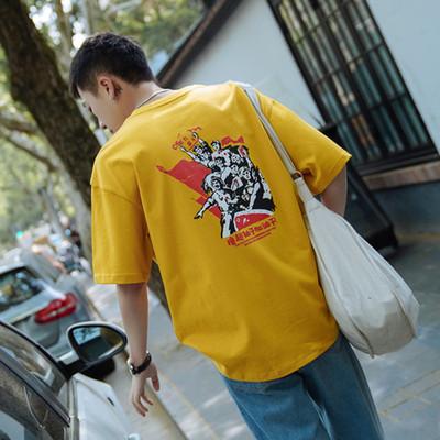 2018夏季新款宽松短袖T恤男A308 T102 P35