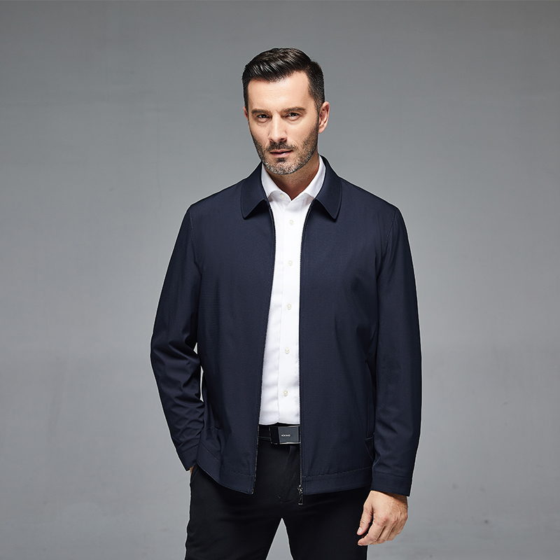 2020 middle and old age large fashion mens spring and autumn thin jacket fathers business leisure mature loose