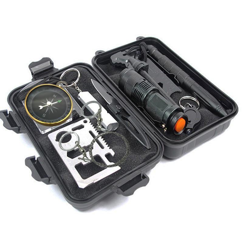 SOS急救盒野外户外生存装备探险工具便携末日多功能应急包求生盒