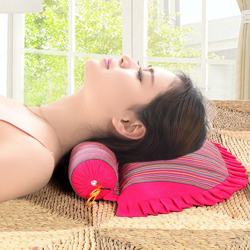 颈椎枕头修复专用理疗荞麦颈椎枕牵引病人矫正成人脊椎单人护颈枕