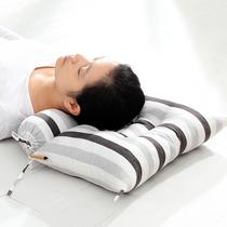枕芯可拆洗颈椎枕全棉花边荞麦壳枕头老粗布糖利形保健护颈枕