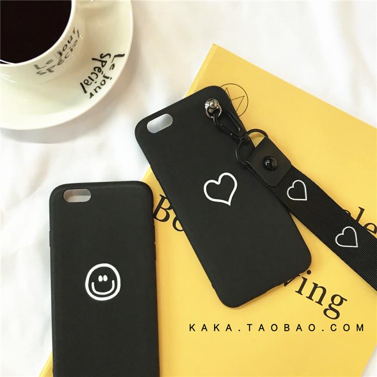 韩国文艺几何潮牌 苹果4s手机壳 iphone5s手机套可爱卡通5se女款