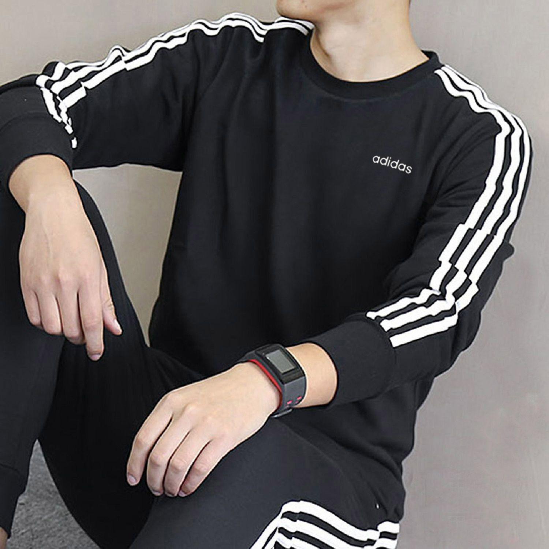 阿迪达斯卫衣男装2019秋季新款运动服圆领上衣长袖男士套头衫外套