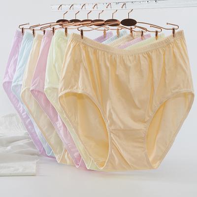 6条妈妈内裤女士纯棉中老年老太太奶奶老人高腰全棉胖MM三角裤头