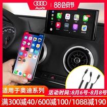专用A3A4LA6LQ2LQ3Q5LQ7奥迪carplay数据线苹果车载连接线