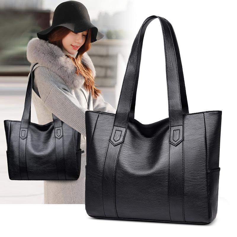 大包包女2020秋季新款韩版简约百搭手提包大容量单肩包托特包女包