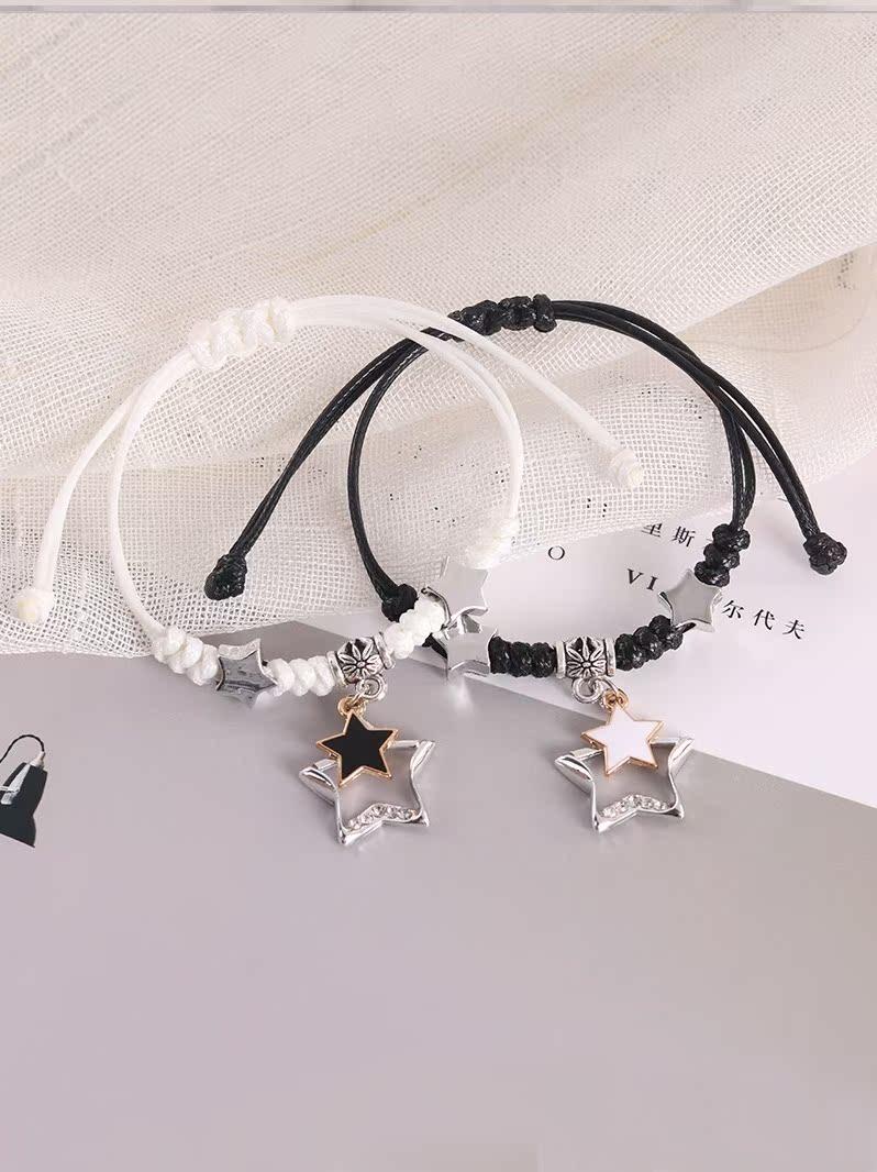潮单身男士手链简单大方流行街头手编绳女学生创意首饰品装饰品