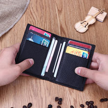 Card bag men's ultra-thin small wallet leather certificate cover driver's license leather cover men's multi-functional women's small card cover women