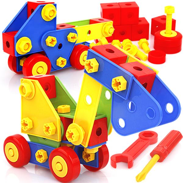Ребенок головоломка игрушка DIY творческий собранный строительные блоки гайка инструмент разборка разнообразие крупных частиц заклинание взять строительные блоки