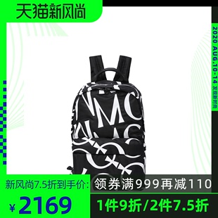 MCQ/麦昆20春夏新品黑白大logo男士双肩包背包奢侈品正品品牌